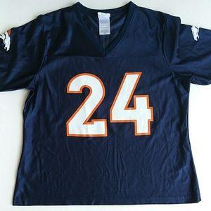 NFL Denver Broncos Blue Jersey Tee 24 Bailey